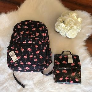 Vera Bradley Flamingo Fiesta backpack & lunch sack